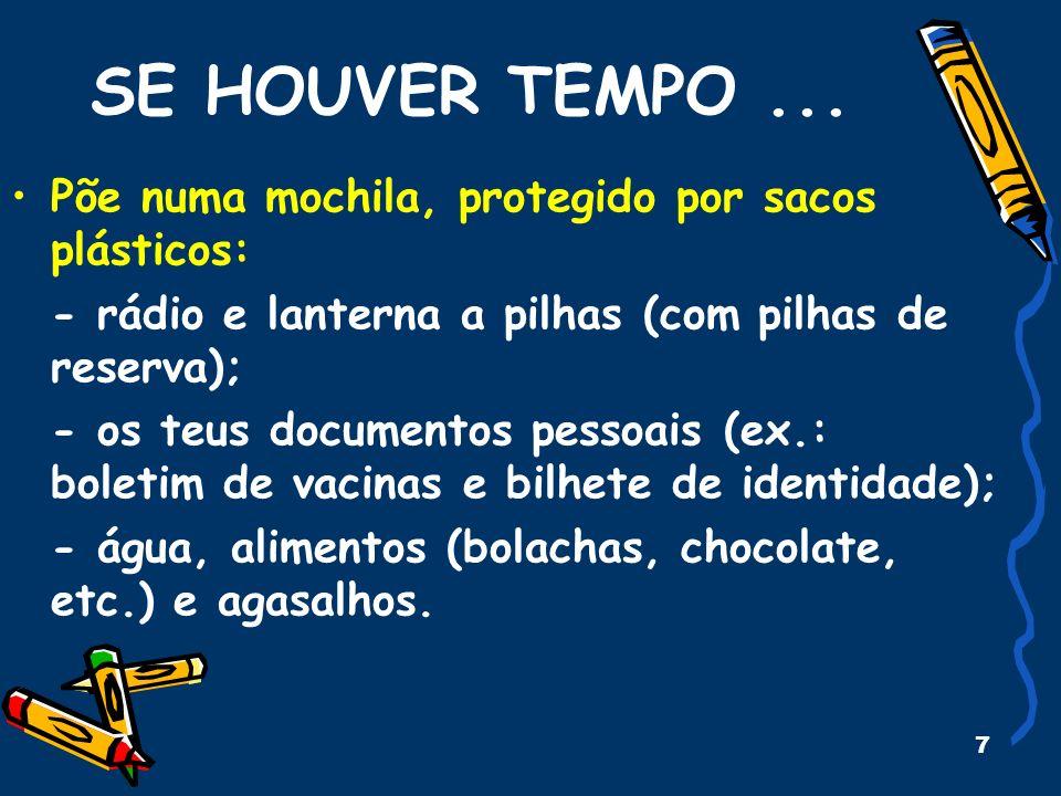 7 SE HOUVER TEMPO...