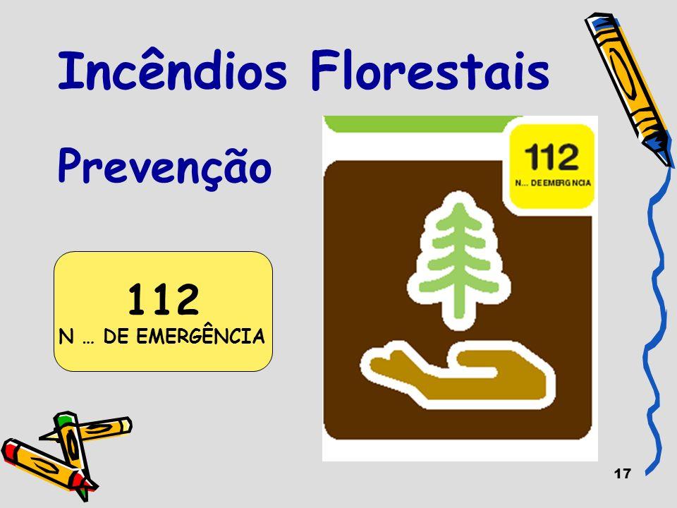 17 Incêndios Florestais Prevenção 112 N … DE EMERGÊNCIA