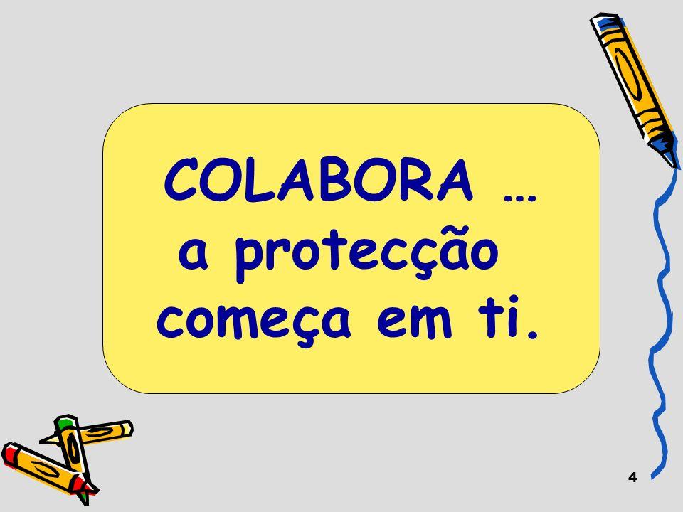 4 COLABORA … a protecção começa em ti.