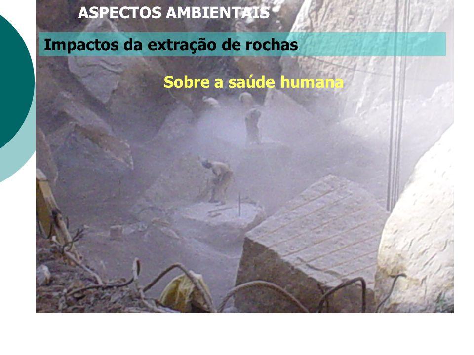 Impactos da extração de rochas Sobre a saúde humana ASPECTOS AMBIENTAIS