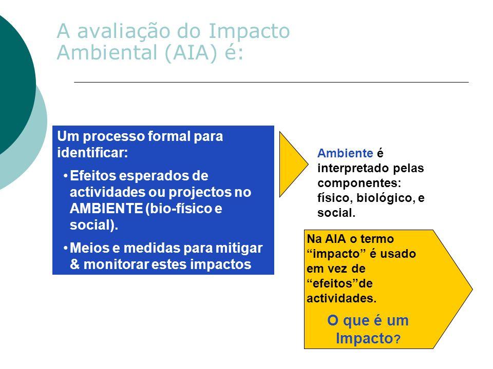Na AIA o termoimpacto é usadoem vez deefeitosdeactividades.