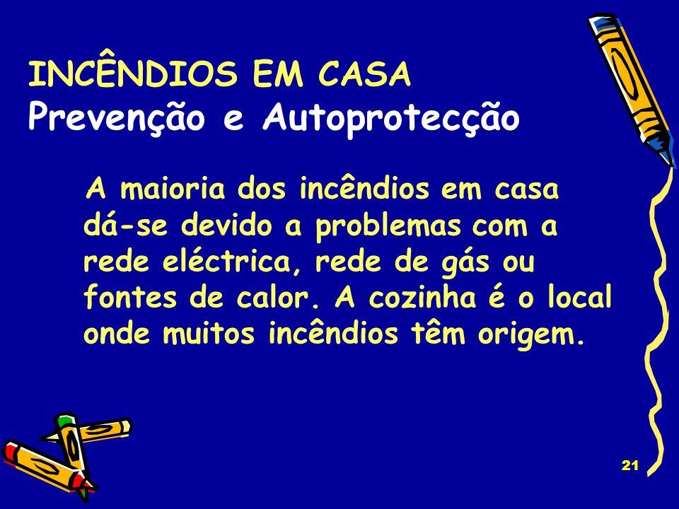 20 INCÊNDIOS EM CASA Prevenção e Autoprotecção
