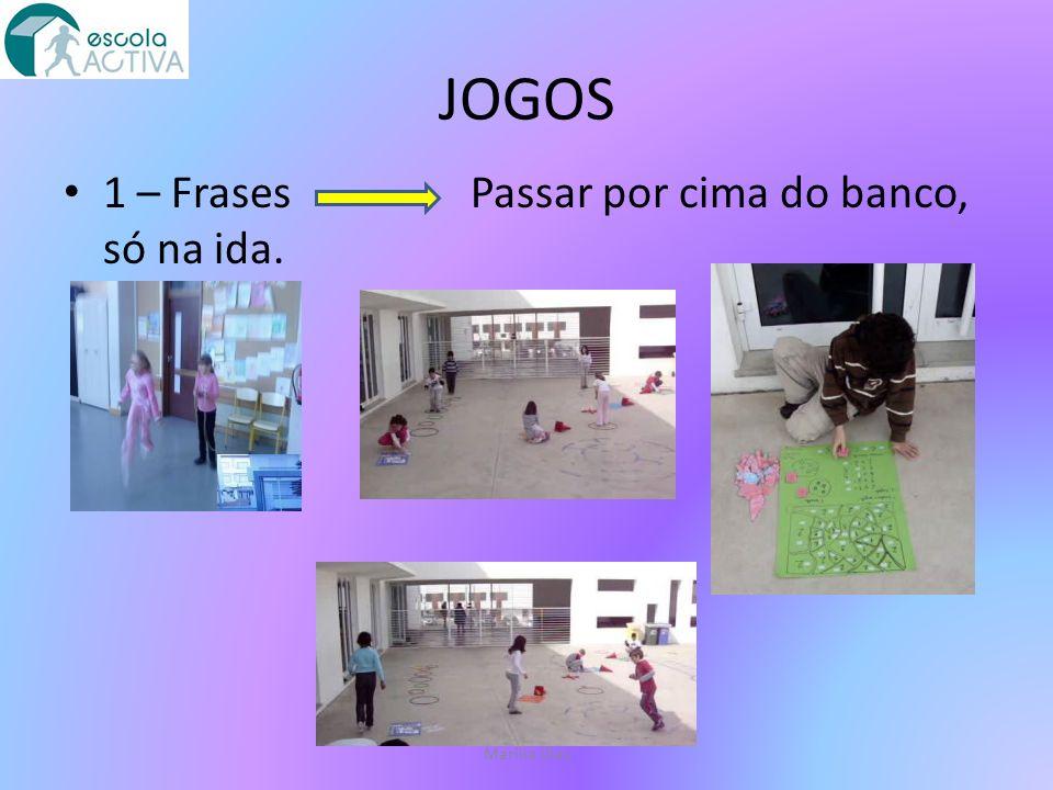 JOGOS 2 – Operações Correr entre 4 pinos, só na ida.