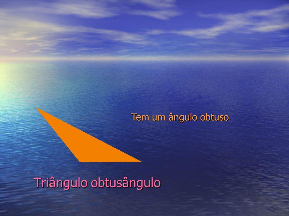 Triângulo obtusângulo Tem um ângulo obtuso