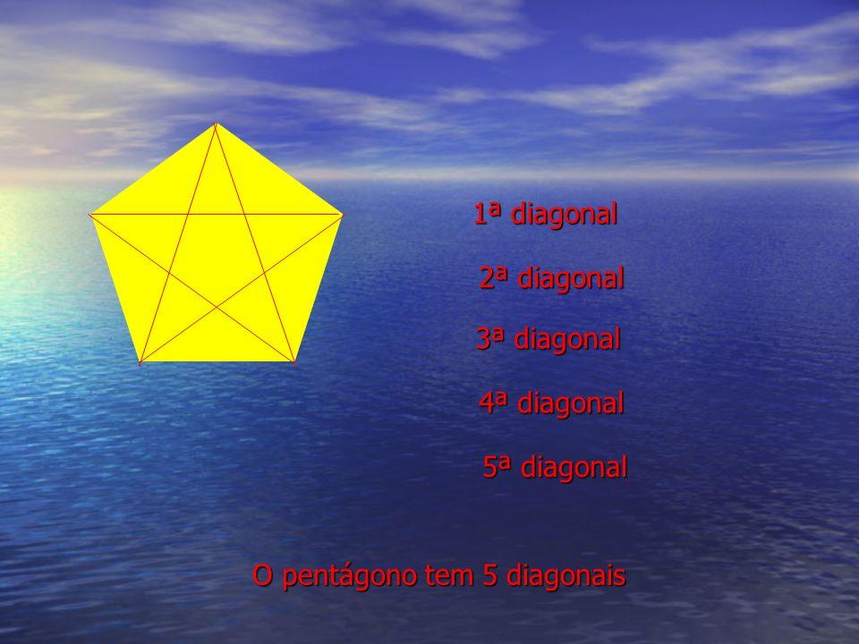 1ª diagonal 2ª diagonal 3ª diagonal 4ª diagonal 5ª diagonal O pentágono tem 5 diagonais