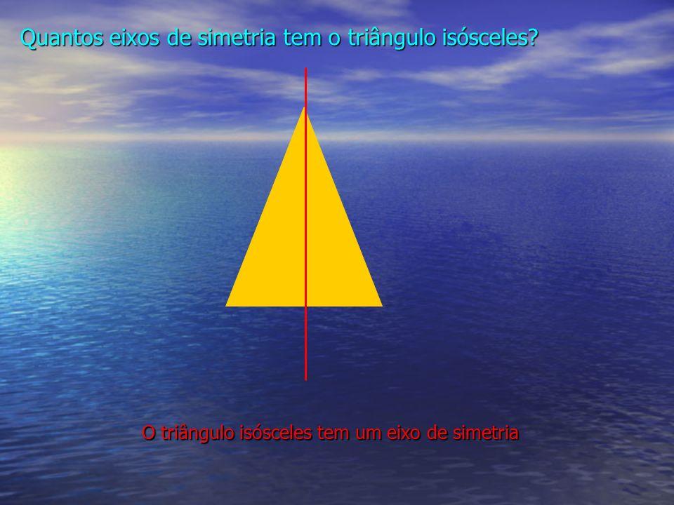 O triângulo isósceles tem um eixo de simetria Quantos eixos de simetria tem o triângulo isósceles?