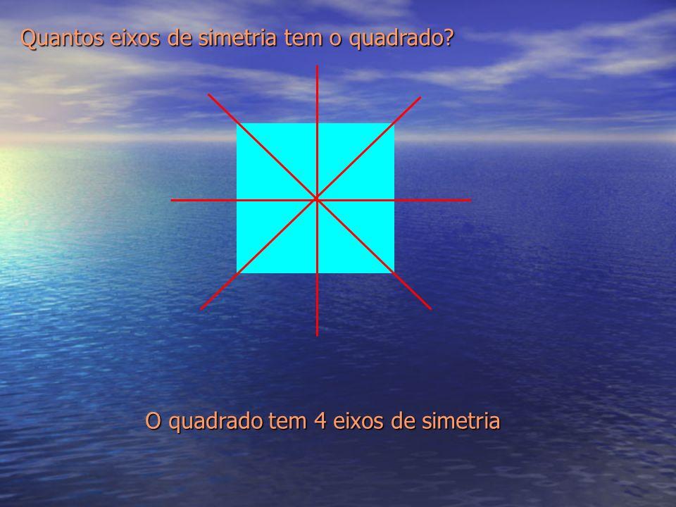 Quantos eixos de simetria tem o quadrado? O quadrado tem 4 eixos de simetria