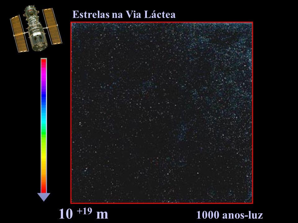 10 +19 m 1000 anos-luz Estrelas na Via Láctea