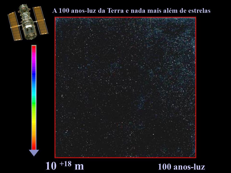 10 +18 m 100 anos-luz A 100 anos-luz da Terra e nada mais além de estrelas