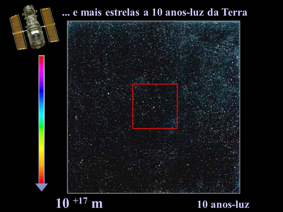 10 +17 m 10 anos-luz... e mais estrelas a 10 anos-luz da Terra