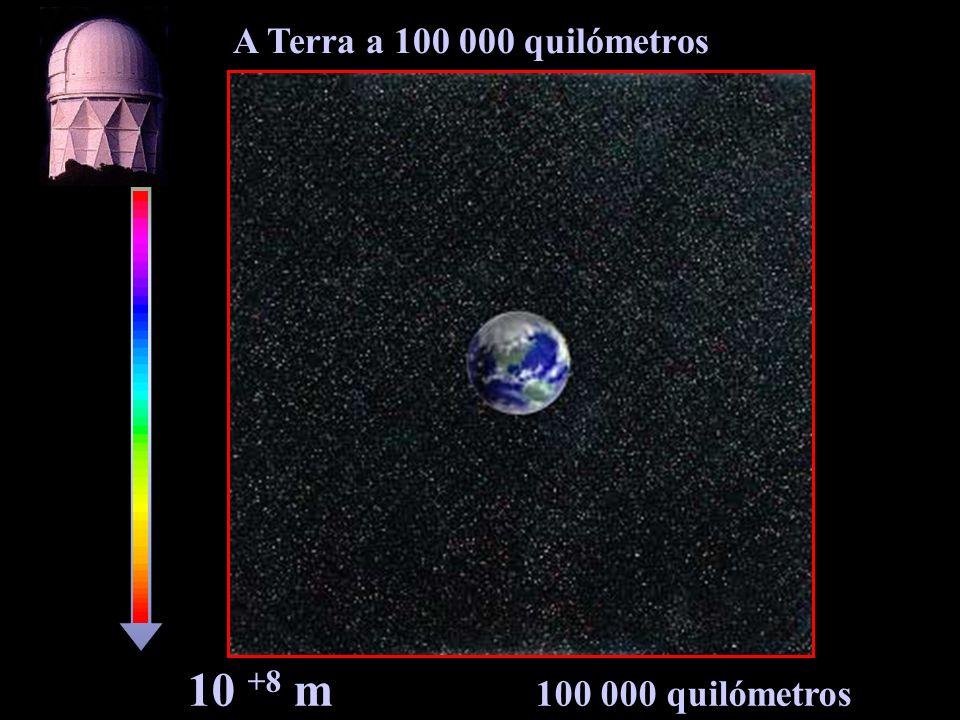10 +8 m 100 000 quilómetros A Terra a 100 000 quilómetros