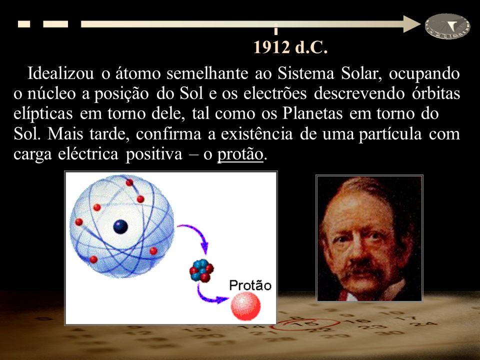 Idealizou o átomo semelhante ao Sistema Solar, ocupando o núcleo a posição do Sol e os electrões descrevendo órbitas elípticas em torno dele, tal como