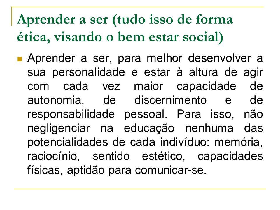 UNESCO. Educação: um tesouro a descobrir. 2. ed. São Paulo: Cortez, MEC, 1999.