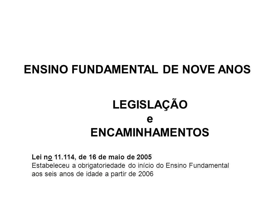 7 CONSELHO NACIONAL DE EDUCAÇÃO CÂMARA DE EDUCAÇÃO BÁSICA - RESOLUÇÃO nº 3, DE 3 DE AGOSTO DE 2005 Define normas nacionais para a ampliação do Ensino Fundamental para nove anos.
