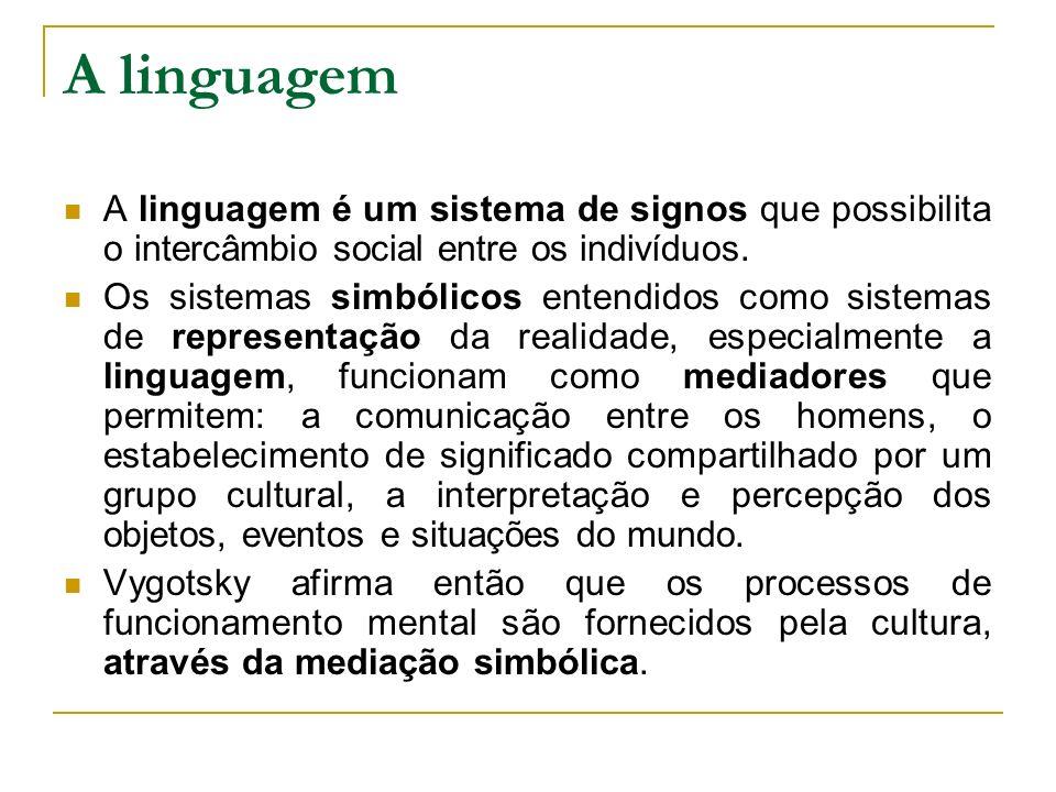 A linguagem é um sistema de signos que possibilita o intercâmbio social entre os indivíduos. Os sistemas simbólicos entendidos como sistemas de repres