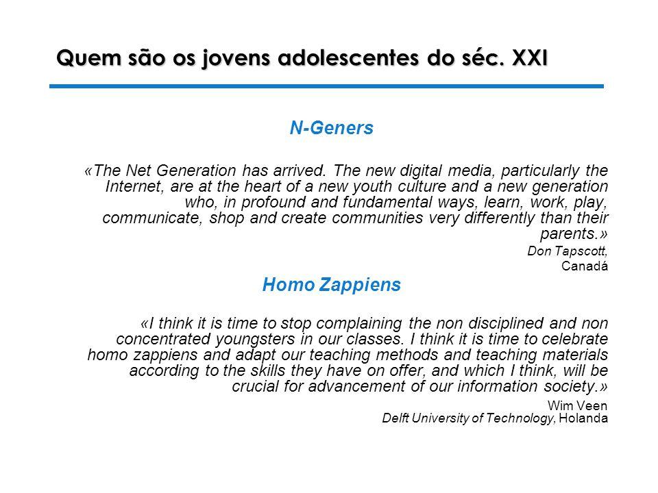 28-10-2003 Luiza Alves da Costa Quem são os jovens adolescentes do séc.
