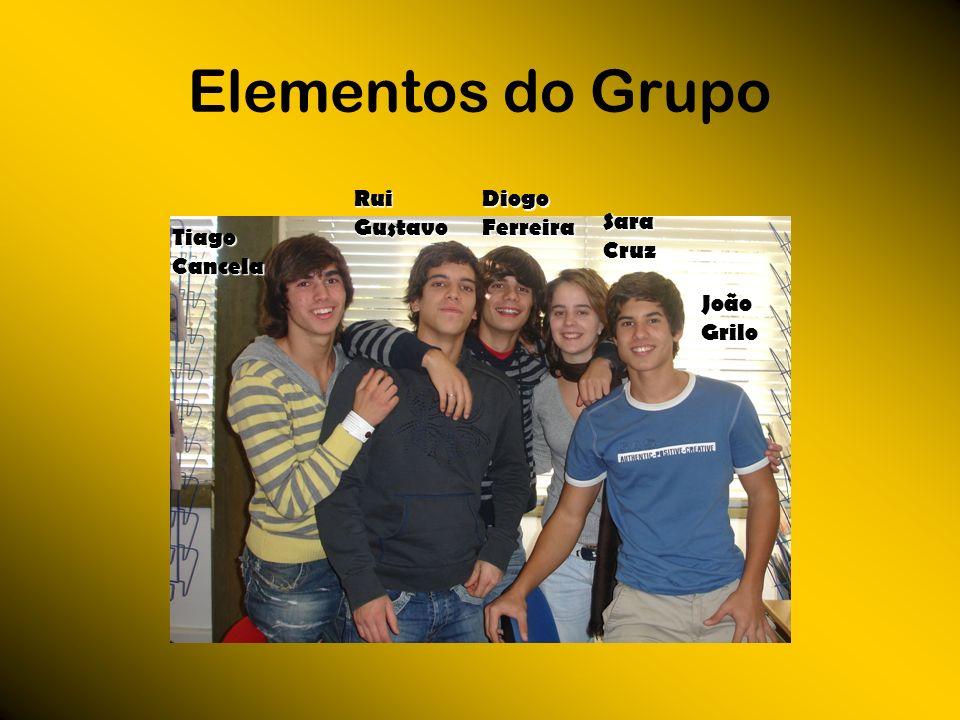 Elementos do Grupo Tiago Cancela Diogo Ferreira Sara Cruz João Grilo Rui Gustavo