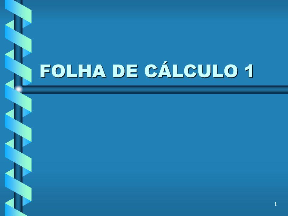 1 FOLHA DE CÁLCULO 1