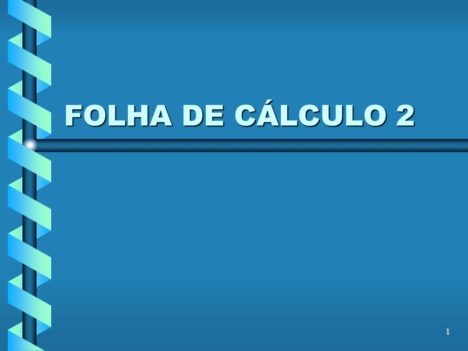 12 FOLHA DE CÁLCULO B6: =IF(…; round(-B2/(2*B1);3) & + & round((-B5)^0,5/(2*B1);3) & i) É uma das soluções complexas