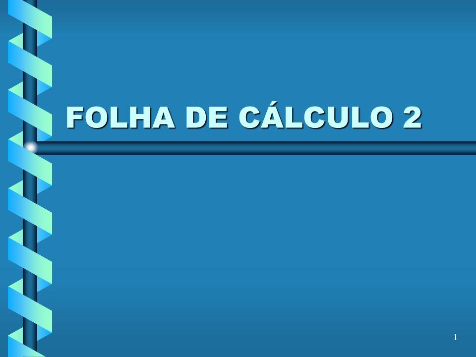1 FOLHA DE CÁLCULO 2