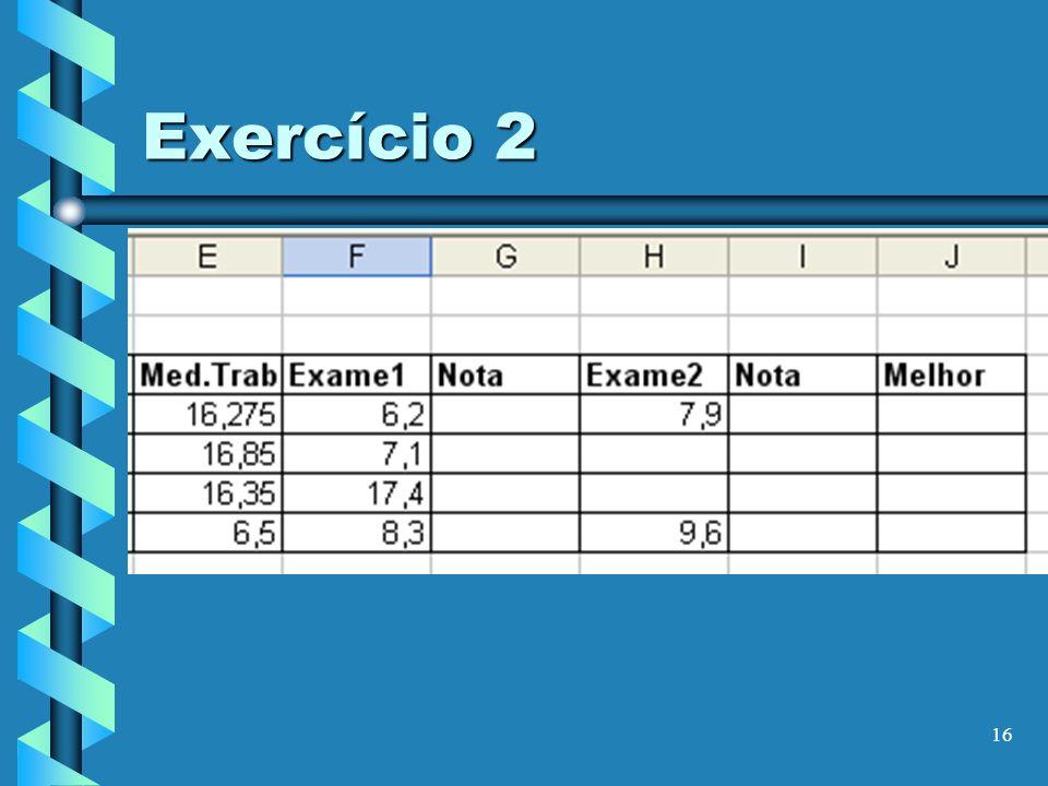 16 Exercício 2