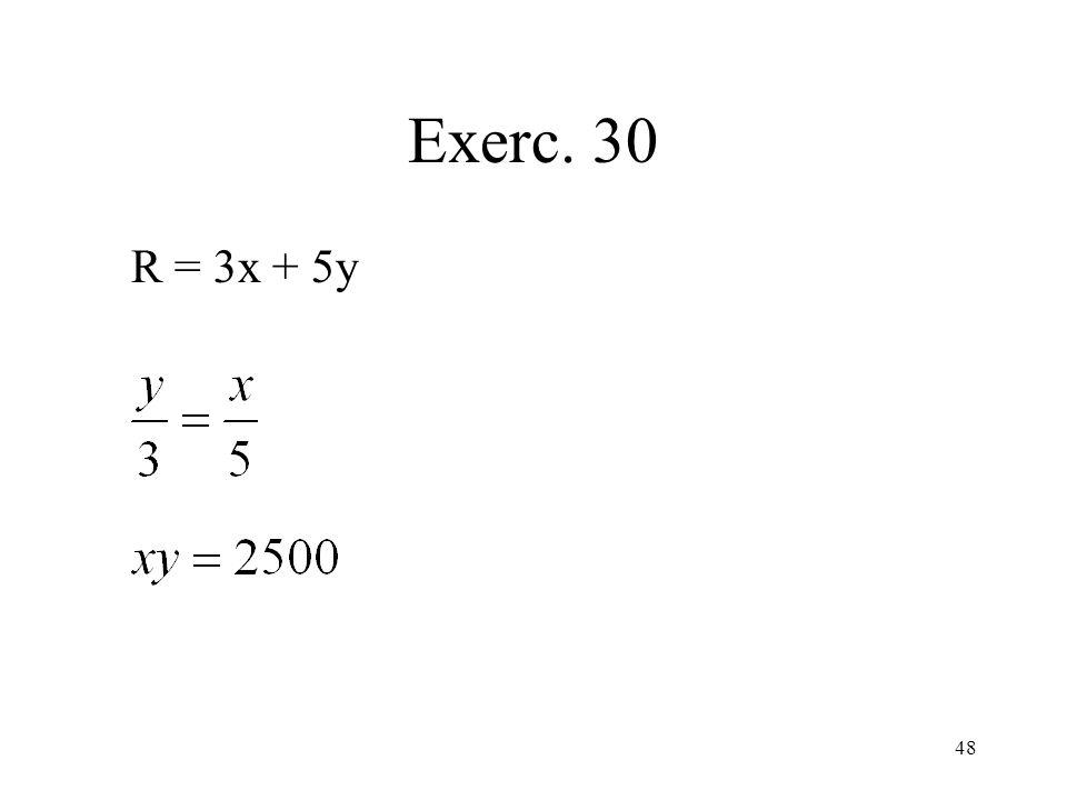 48 Exerc. 30 R = 3x + 5y