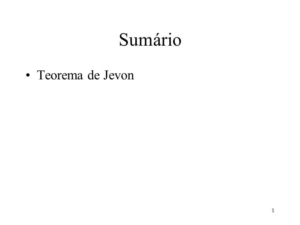 1 Sumário Teorema de Jevon