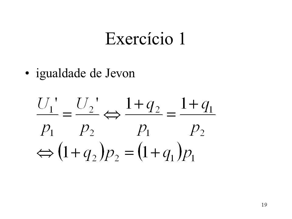19 Exercício 1 igualdade de Jevon