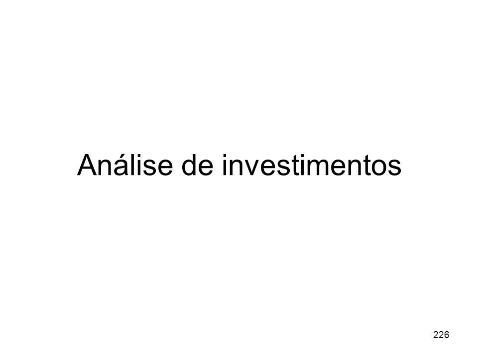 226 Análise de investimentos