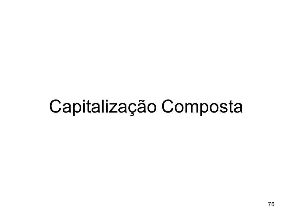 76 Capitalização Composta