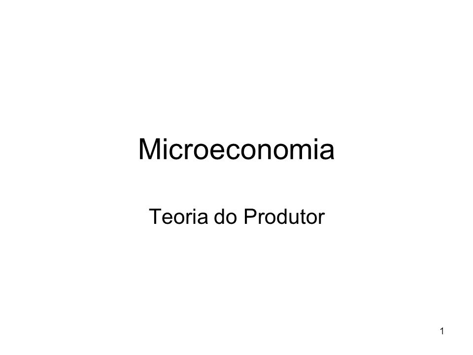 2 O produtor