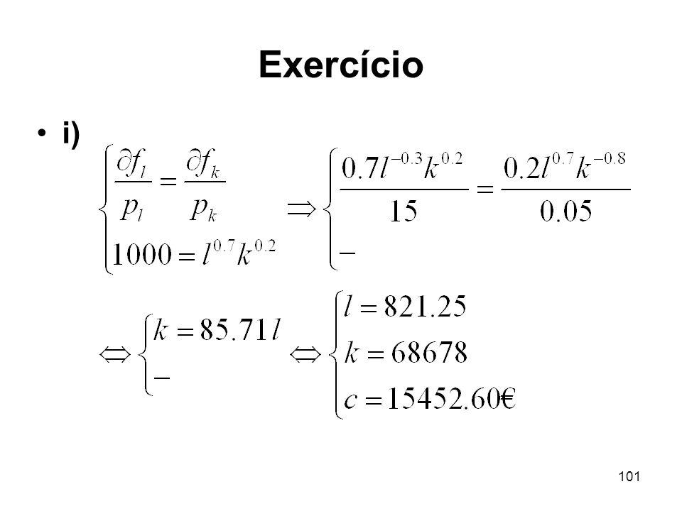 101 Exercício i)