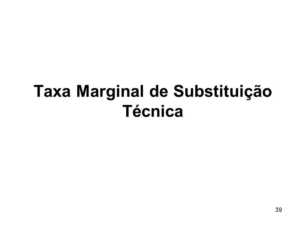 39 Taxa Marginal de Substituição Técnica