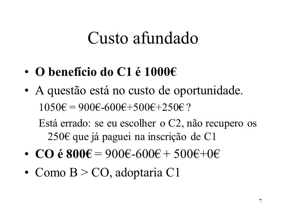 8 Valor e quantidade Vimos que o valor de uma unidade do BS –A quantidade máxima de moeda que eu estou disposto a perder para ter a unidade do BS E o valor de duas unidades de BS.