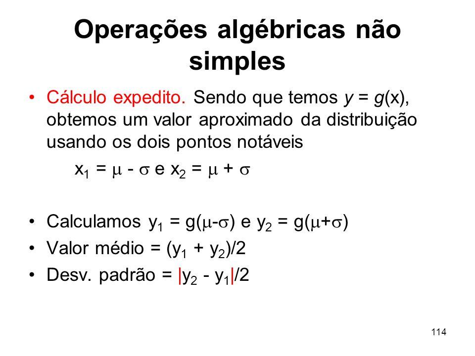 114 Operações algébricas não simples Cálculo expedito.
