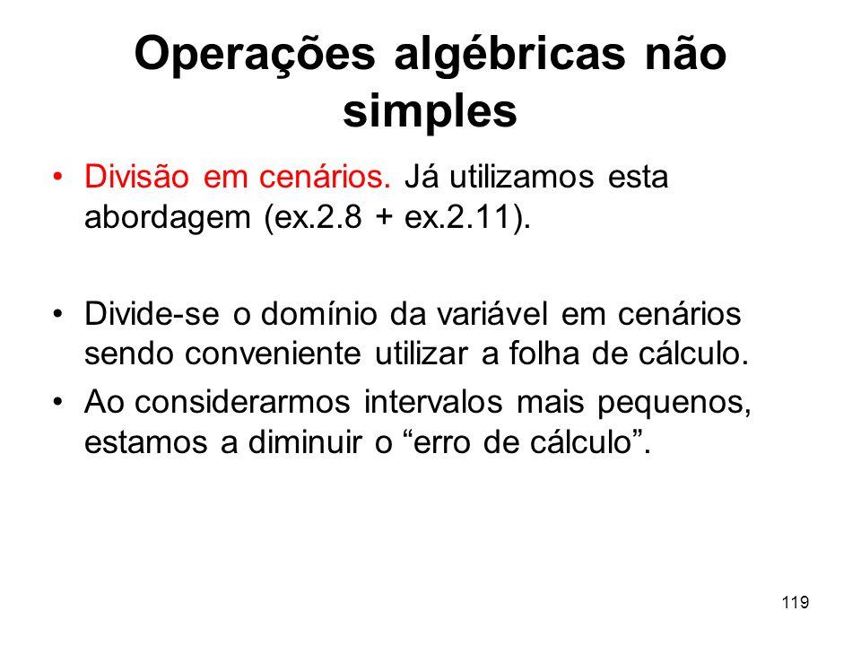 119 Operações algébricas não simples Divisão em cenários.