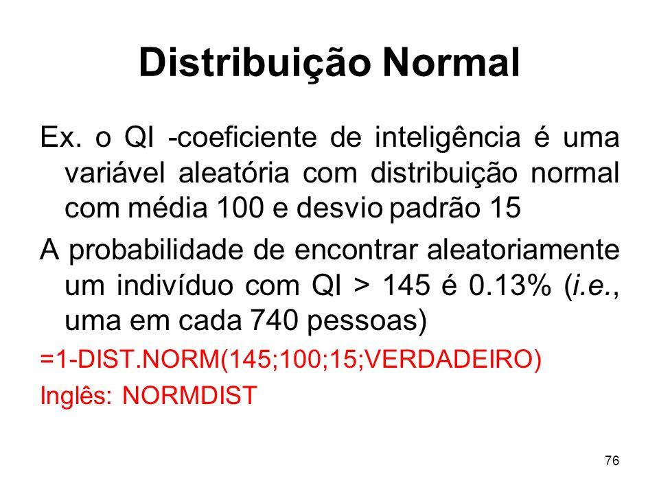 76 Distribuição Normal Ex.