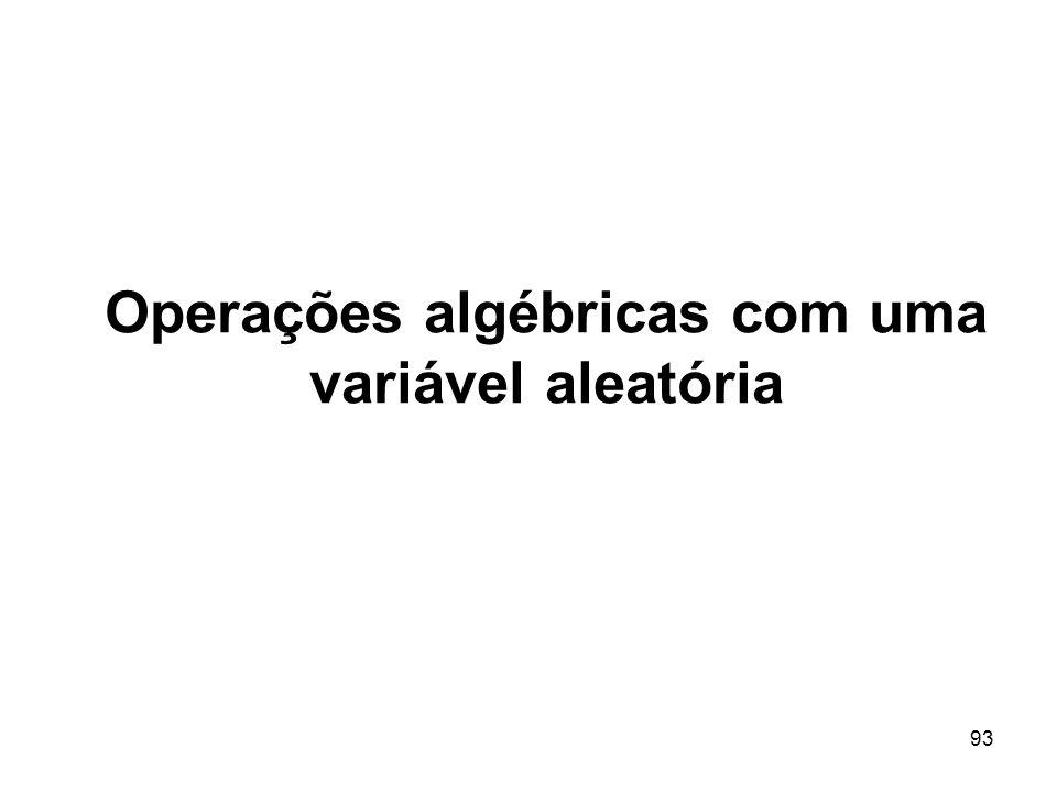 93 Operações algébricas com uma variável aleatória