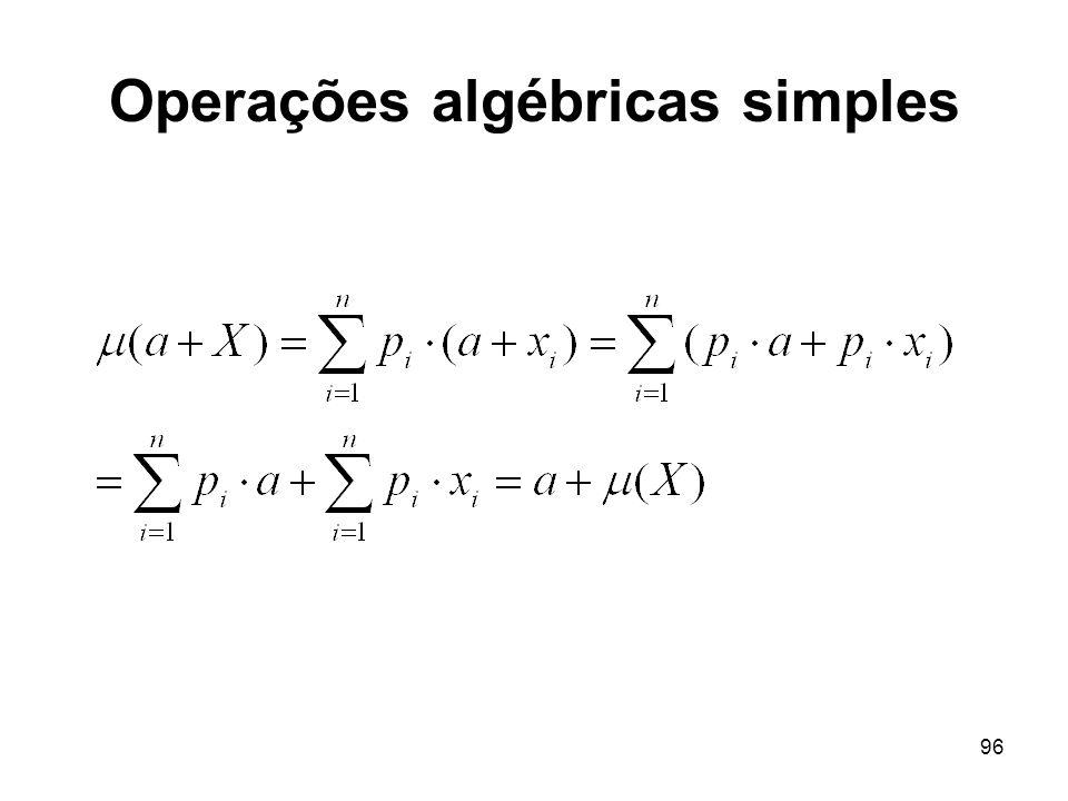 96 Operações algébricas simples
