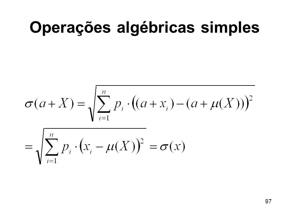 97 Operações algébricas simples