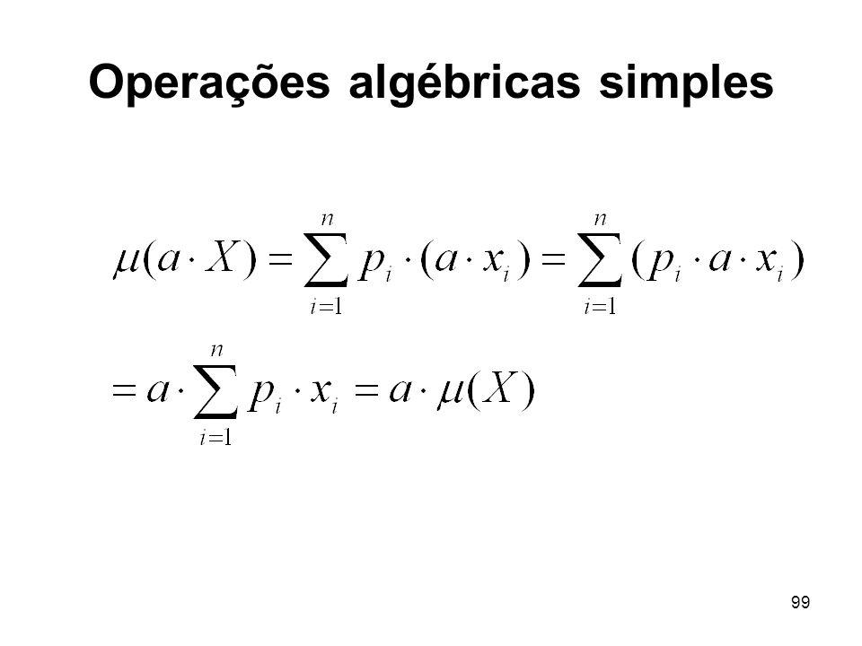 99 Operações algébricas simples