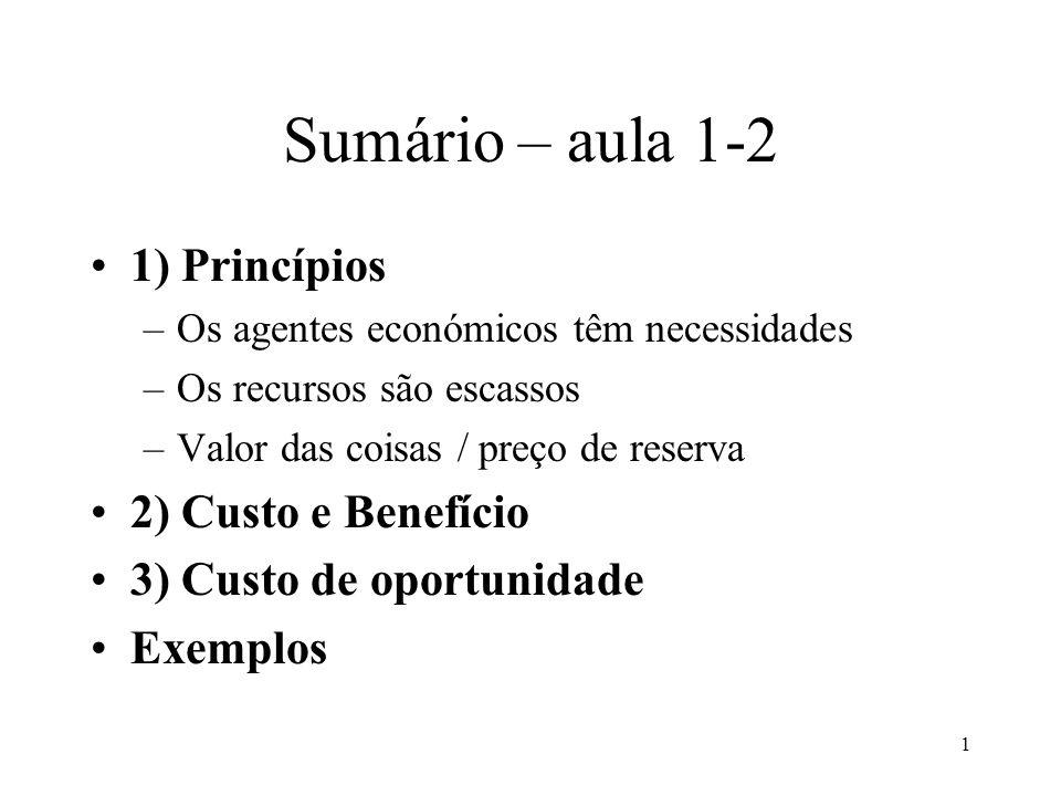 32 Exemplo 3 T de trab.BenefícioCusto oport. 0h0<6 1h5<7 2h10<11 3h15>14 4h20<22