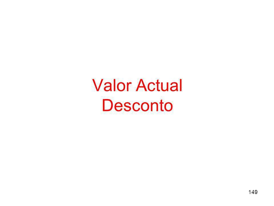 149 Valor Actual Desconto