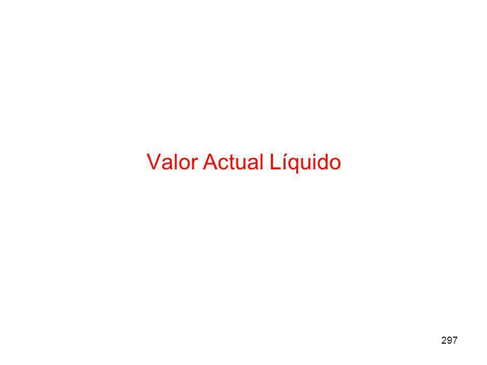 297 Valor Actual Líquido