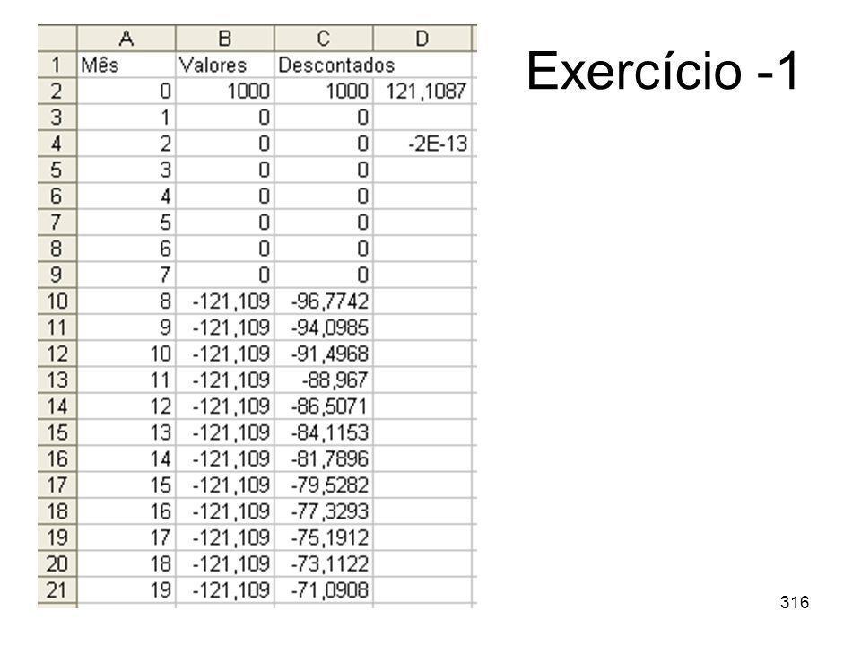 316 Exercício -1