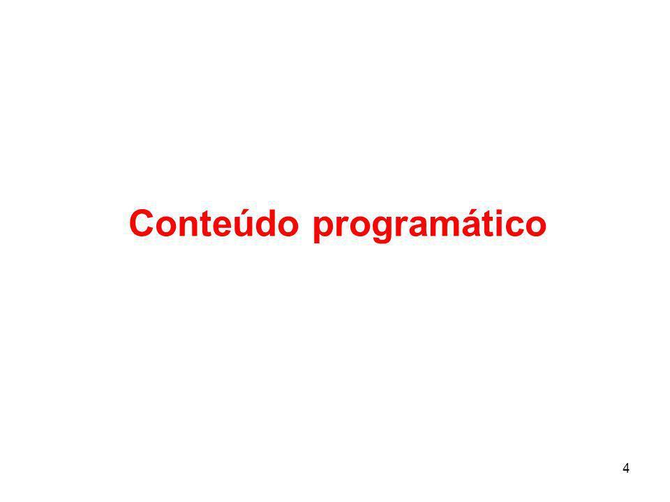 4 Conteúdo programático
