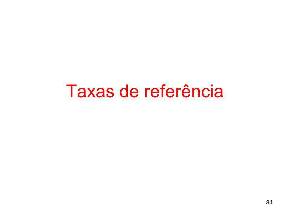 84 Taxas de referência