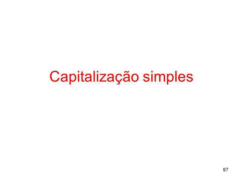 97 Capitalização simples