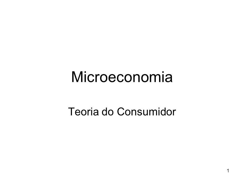 1 Microeconomia Teoria do Consumidor