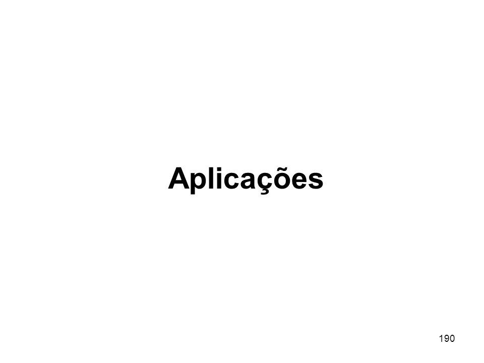 190 Aplicações